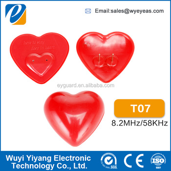 high quality anti theft red color eas hard tag for clothing