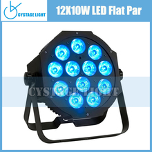 12x10w rgbw stage lighting outdoor 4in1 flat led par for Event Decorations