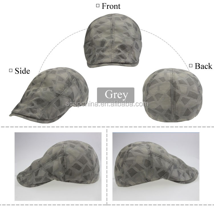 Wholesale Waterproof Men Newsboy Hat and Cap