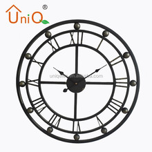 Large metal wall clock for home decoration
