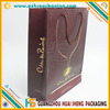 Promotional Gold Foil Hot Stamping Black Paper Wine Bags for gift