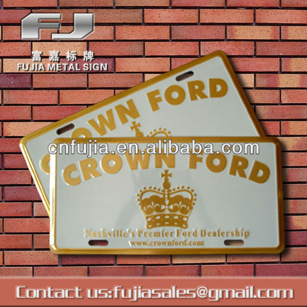 3D embossed tin license plate,car number plate