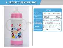 BPA free insulated baby milk thermos with straw and nipple