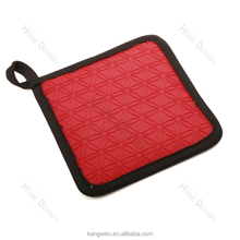 New products square shaped heat resistent pot holder/ oven mitts/glove with fabric inside silicone