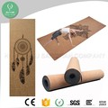 Wholesale high quality durable anti slip natural cork rubber yoga mat