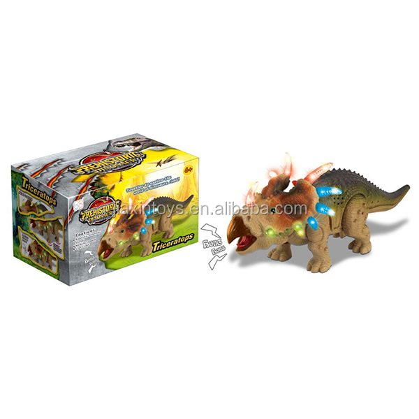 Electric crawling dinosaur with light and sound