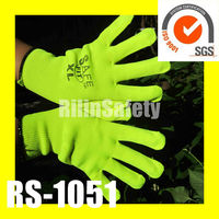 RILIN SAFETY fashion but cheap gloves ,led gloves with EN388 EN 420 CE CERTIFICATE