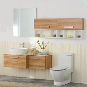 Chinese MDF or plywood french bathroom vanity antique style wood cabinet furniture with drawers