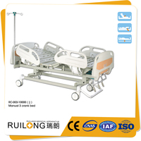 RC-003-10000 3 Crank Manual Medical And Home Nursing Care Bed