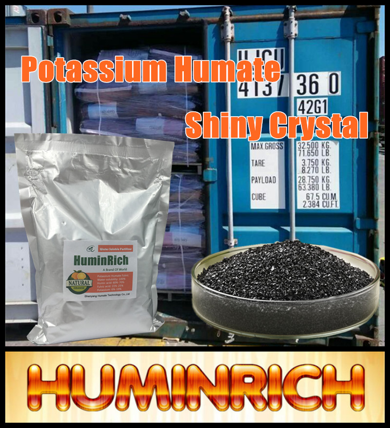 Huminrich Biological Plant Growth Promoter Shiny Crystal Humate Potassium Soil Reconditioning