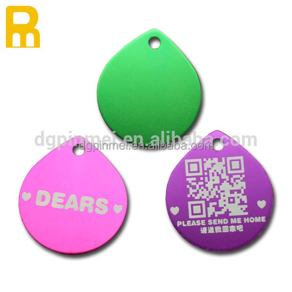 New rechnology aluminum dog tags pet identification tags
