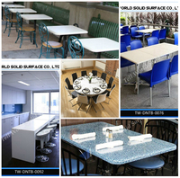 Best selling! Artificial marble modern mess room furniture
