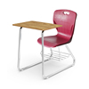 school student combo chair desk with writing pad tablet board