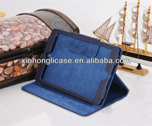 Litchi pattern leather flip stand cover case for ipad mini new produc