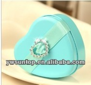 2017 Creative Dazzling Heart Shaped Candy Sweet Box wedding gift box
