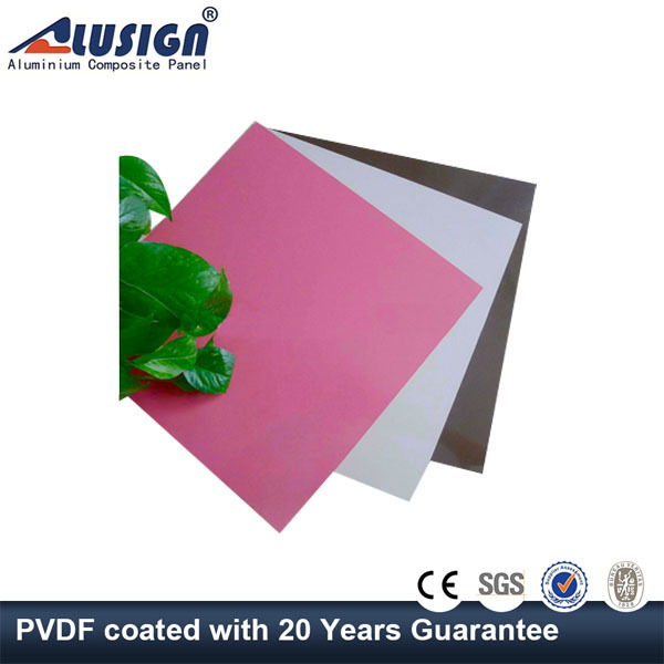 Alusign 6mm wall cladding exterior plastic with wall partition acp