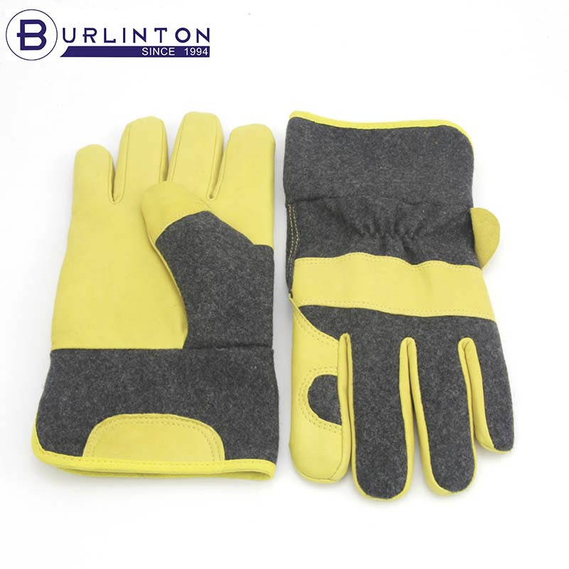 Safety winter working gloves with lining gloves for gardenning