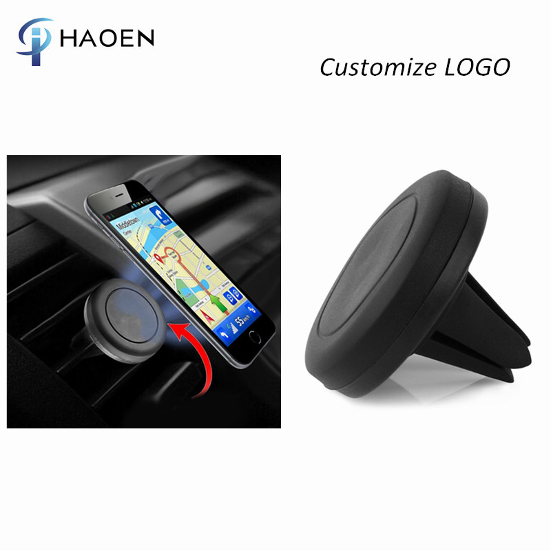 Custom Logo Car Magnetic Air Vent Phone Holder with Retail Box, Mobile Phone Holder car magnet mount