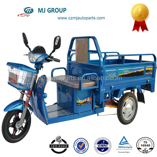 electric cargo tricycle hot in 2014 in Indonesia and Chile cabin cargo tricycle three wheeler