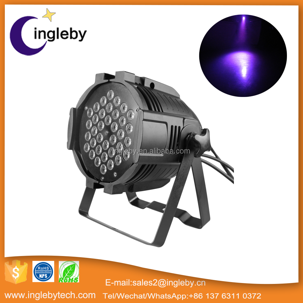 china best price par led indoor stage par can light dmx rgb 36x3w led