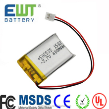 LP582535 3.7v 470mah li-polymer battery 582535 470mAh lipo battery