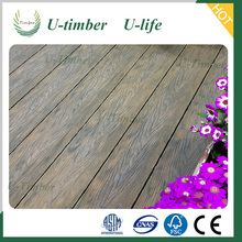 CE certificate High quality Outdoor WPC solid decking/plastic flooring looks like wood/wpc decking floor