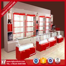 Top quality modern wooden glass mobile cell phone store design