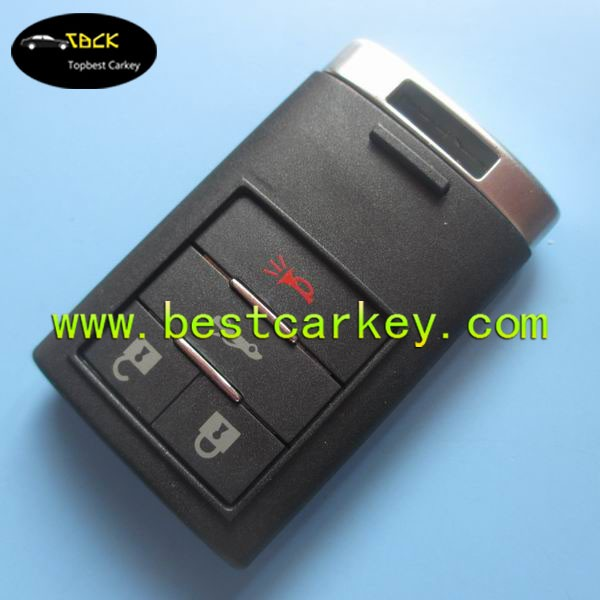 High quality 3+1 button smart car key cover with emergency key car key replacement