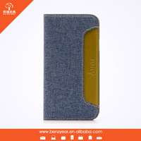 "Wholesale cheap 4.7"" PU and canvas material cell phone case shell"