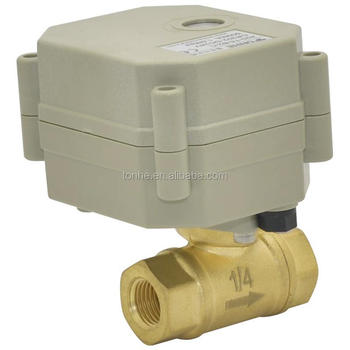 Good sealing 1/4'' brass Electric actuator ball valve for water treatment