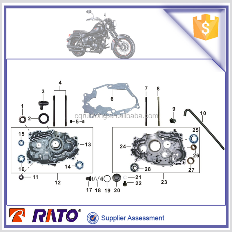 TC200 Chopper motorcycle spare parts engine parts for sale