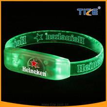 Led party bracelet with multi color famous brand wristband