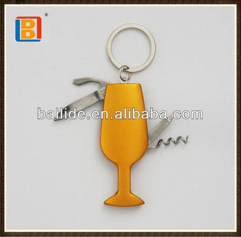 2017 Hot Sales Promotional Multifunction Knife New Lighter Design Antique Wineglass Shape Pocket Folding Keyring Knife