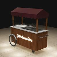 Best selling attractive low price food vending carts, mobile food vending cart for ice cream,juice with freezer in summer