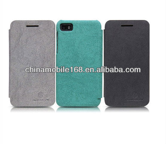 the newest mobile phone leather case protector for blackberry Z10