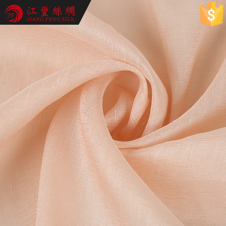 E6 China Foshan Low Price Wrinkle Free Silk Fabric Type Raw Linen Fabric