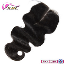 XBL New Arrival Top 7A Virgin Brazilian Hair Wholesale Price Centre Part Lace Top Closure