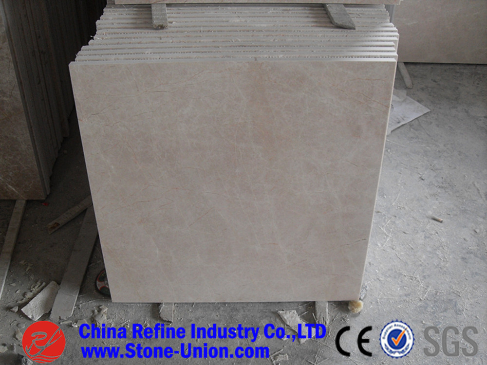 Polished China Bursa beige marble Tile For Sale