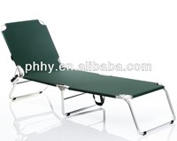 Aluminum folding adjustable sun lounger