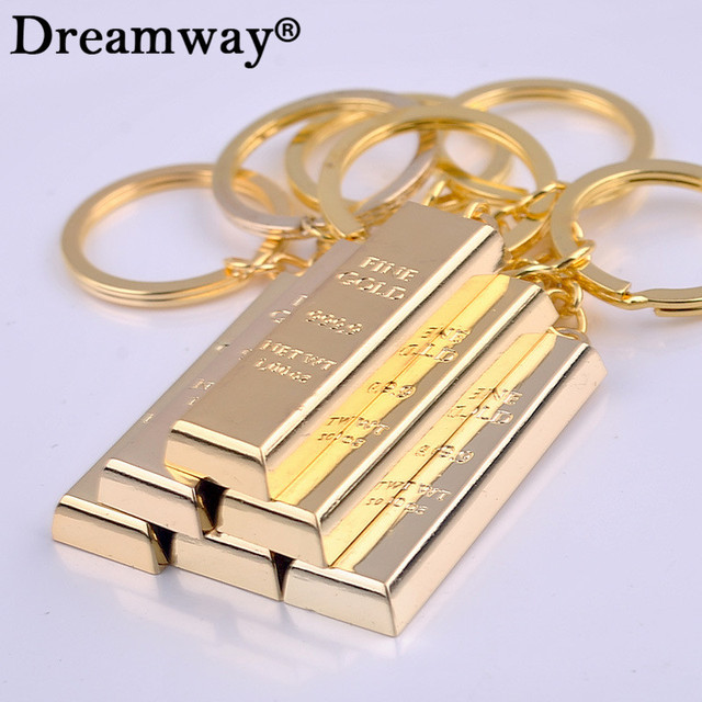 Pure gold key chain golden keychains keyrings women handbag charms pendant metal key finder luxury man car key rings accessory