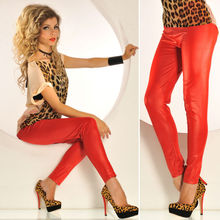 red latex rubber leggings A11045-4