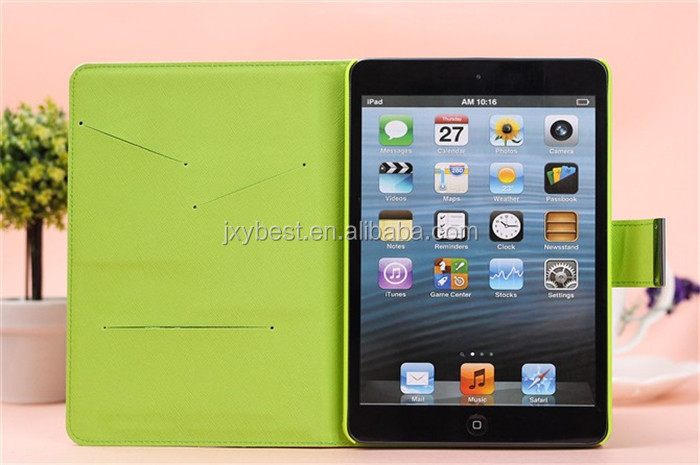 Contrast Leather flip smart case cover for ipad air ipad 5 wallet stand