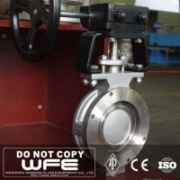 API Worm Gear Stainless Steel Wafer High Performance Butterfly Valve