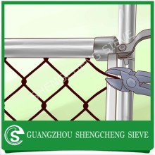 Cheap silver galvanized steel yard fence chain link wire mesh for sale