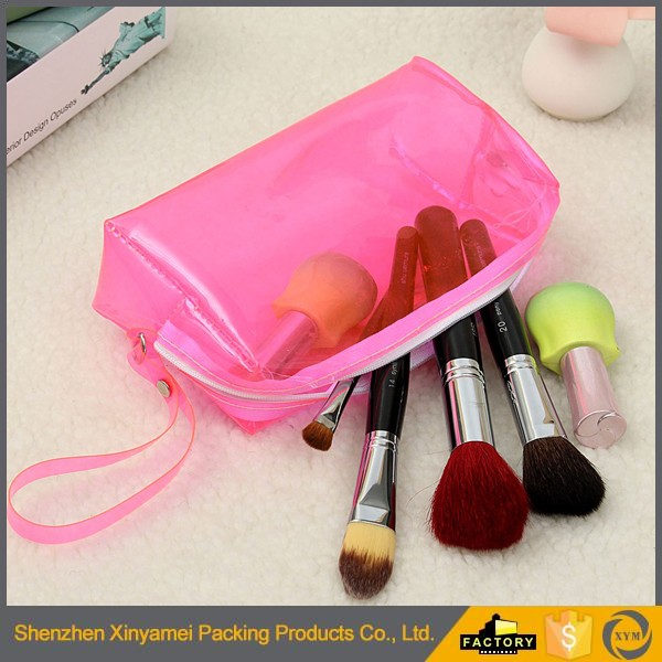 eco matte frosted cosmetic zipper pouch /eva soft cosmetic pvc zipper pouch/cosmetic bottle storage bag packaging