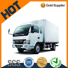 Yuejin china single cabin 2ton 4*2 95hp mini box cargo truck for sale