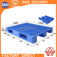 HDPE Or PP Rack Factory Euro Plastic Pallet ZJ1250-150 Mesh Three Skids