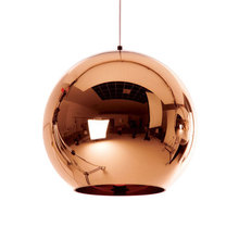 Modern Copper Sliver Shade Mirror Chandelier Light E27 Bulb LED Pendant Lamp Modern Christmas Glass Ball pendant light