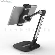 Durable Flexible Long aluminum arm metal plate tablet holder kitchen mobile stand mobile phone holder smartphone holder