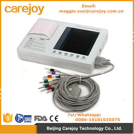 CE approved 3 channel Resting ECG Machine Electrocardiograph electrocardiogram EKG OEM